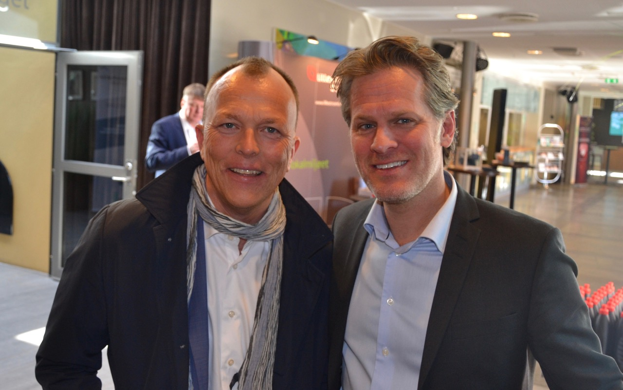 Foredragsholder priser: Nils M. Apeland og Stefan Hyttfors