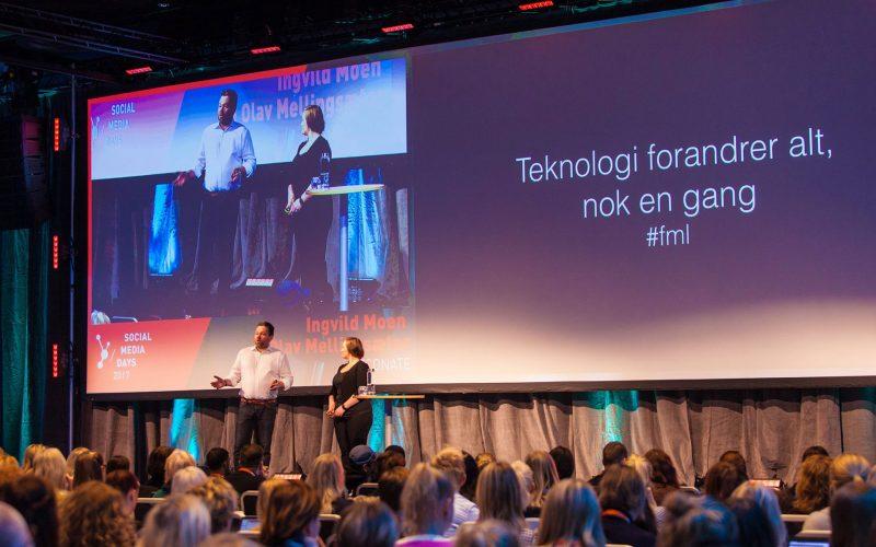 Ingvild Moen og Olav Mellingsæter på scenen